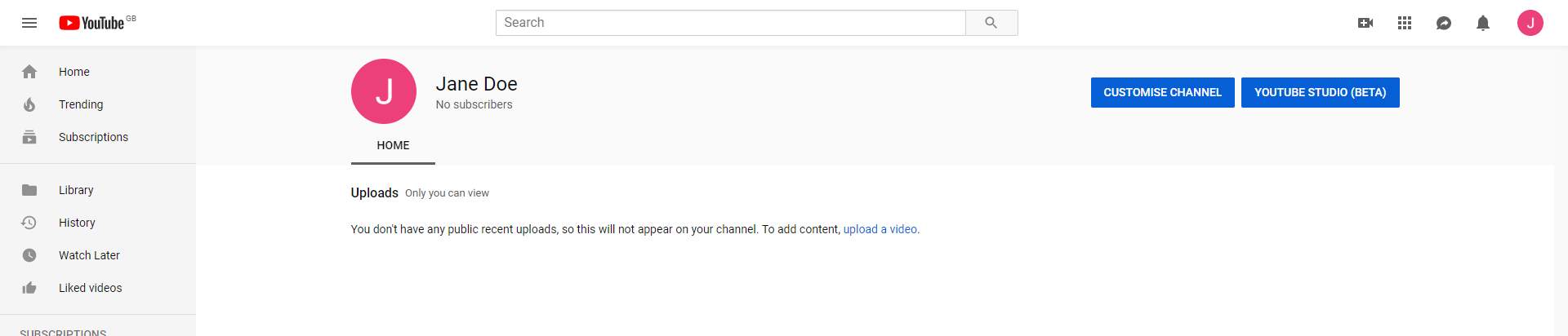Customise your channel